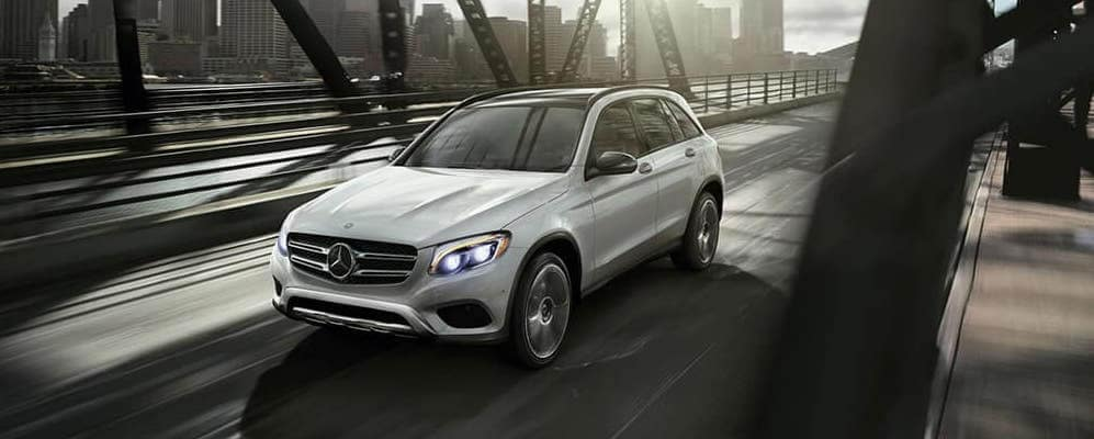 2018 Mercedes Benz SUV Driving On Bridge