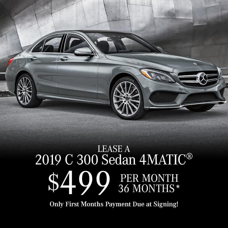 Lease a New 2019 C 300 4MATIC® Sedan
