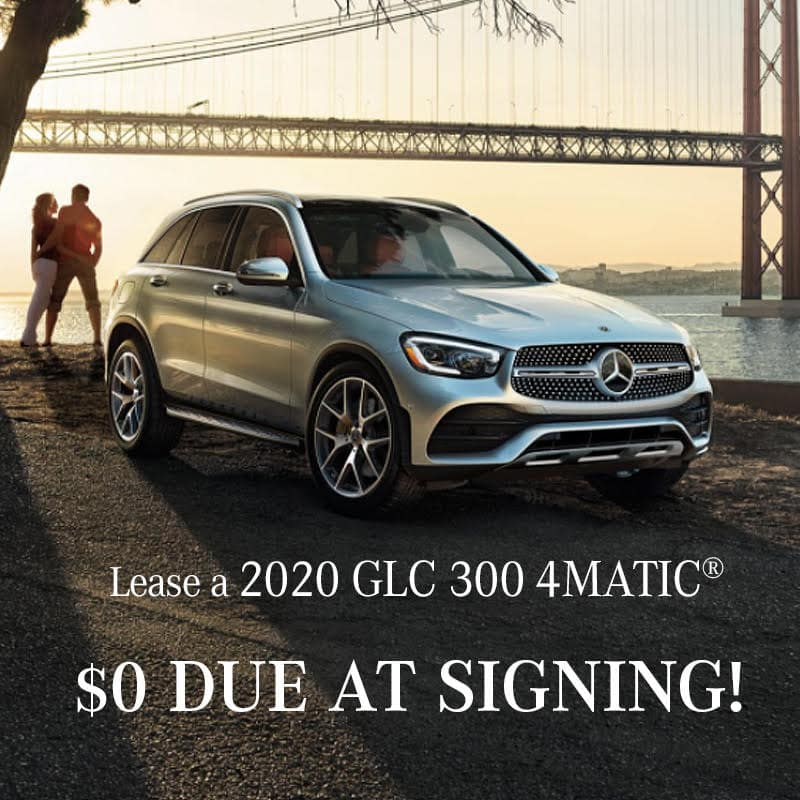 2020 GLC 300 4MATIC® Lease $0. Due at Signing!
