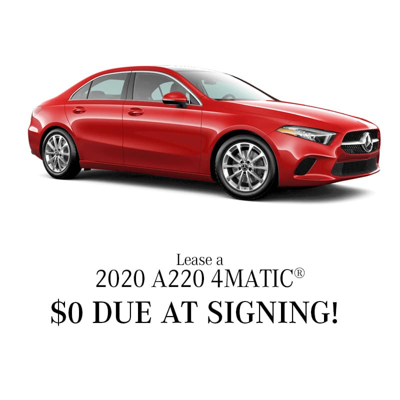 Lease a 2020 A 220 4MATIC® Sedan - $0 Due at Signing