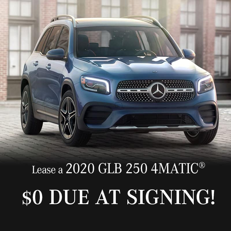 2020 GLB 250 4MATIC® Lease $0. Due at Signing! $499. Per Month | 36 Months