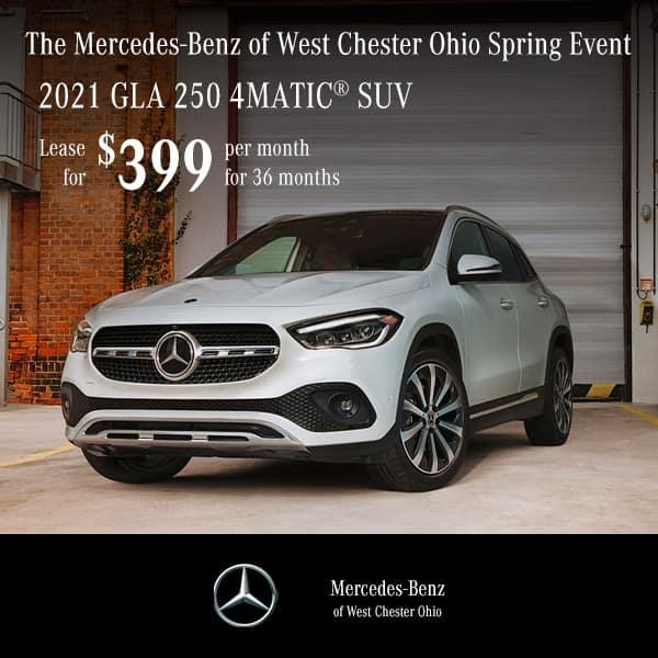 Lease a 2021 Mercedes-Benz GLA 250 4MATIC® SUV