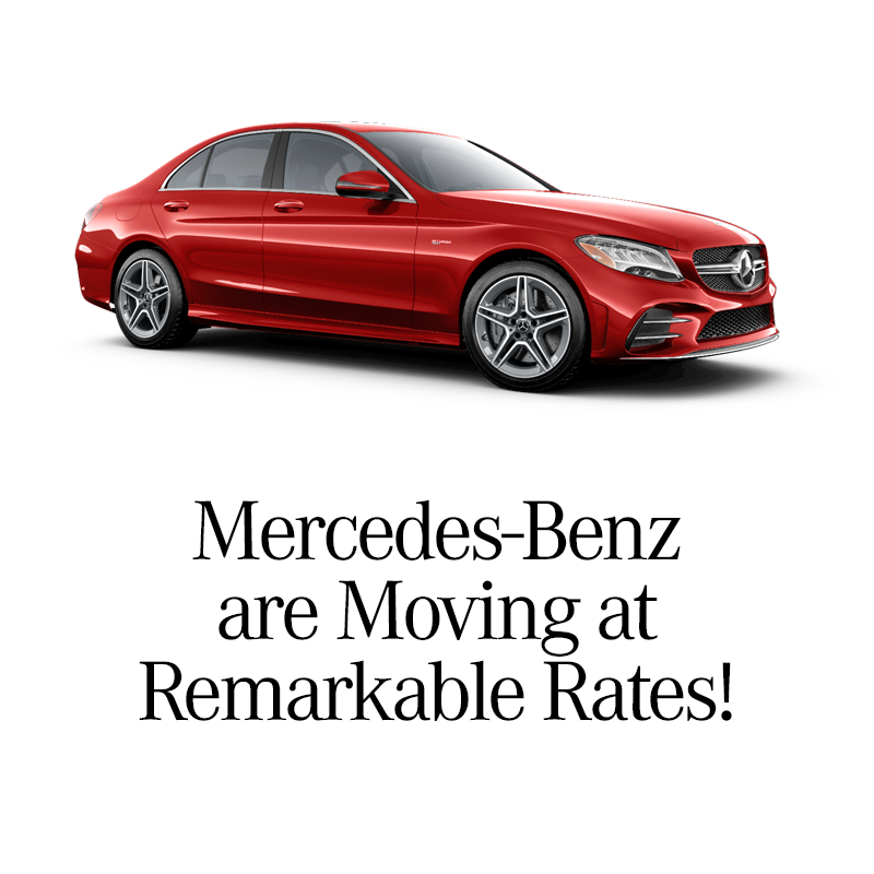 New Finance Rates stating at 0.0% For Select new Mercedes-Benz Models
