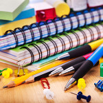 School office supplies on board.