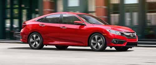 Honda Civic driving exterior view