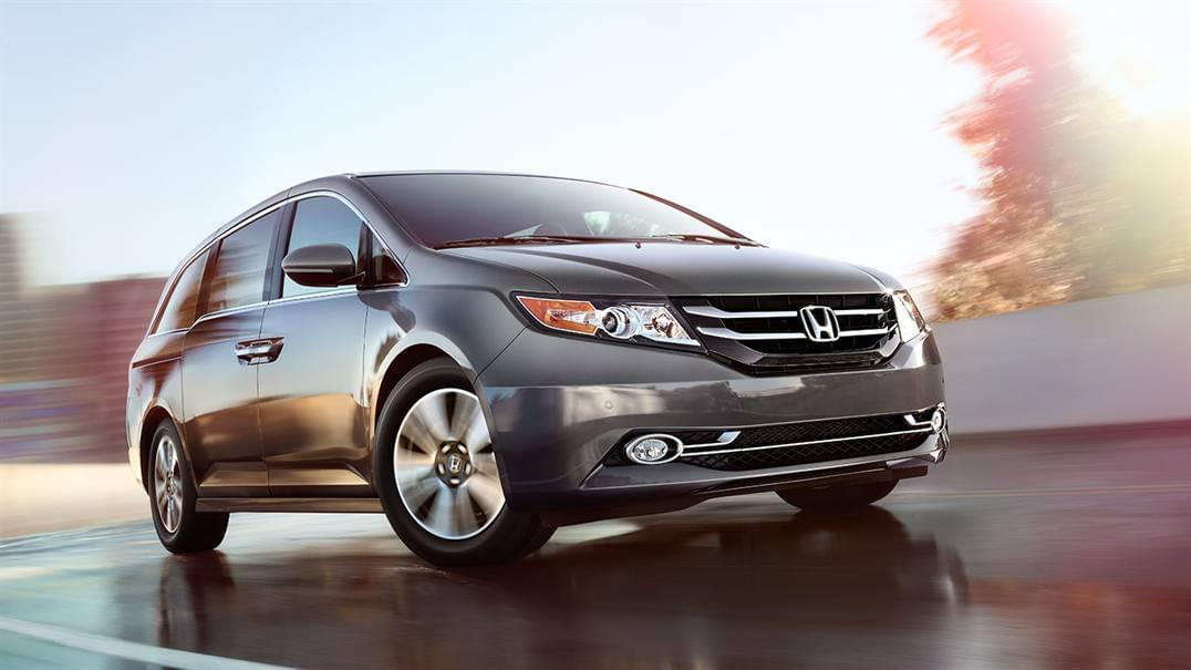 2017 Honda Odyssey driving on Highway