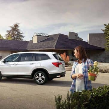 2018 Honda Pilot with groceries