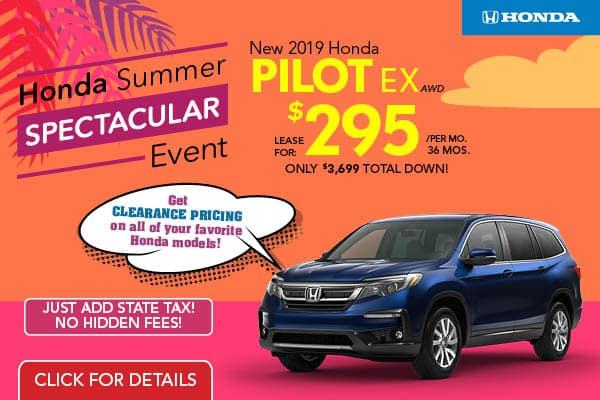2019 Honda Pilot AWD EX LIVE 7/11