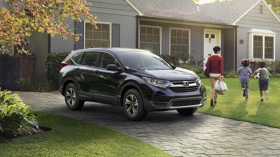 2019 Honda CR-V parked in driveway
