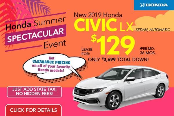 2019 Honda Civic LX Automatic