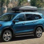 2020 Honda Pilot near lake