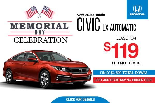 2020 Honda Civic LX Automatic