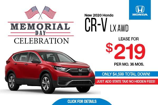 2020 CRV LX AWD