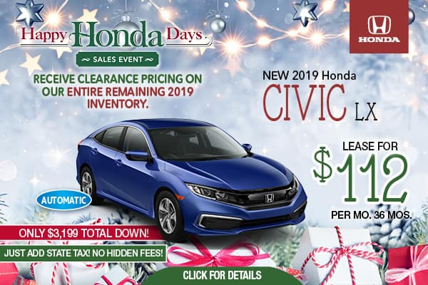 Honda Financing Offers >> New Finance Offers Honda Lease Deals In Nj Metro Honda