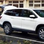 Honda Pilot In Parking Lot
