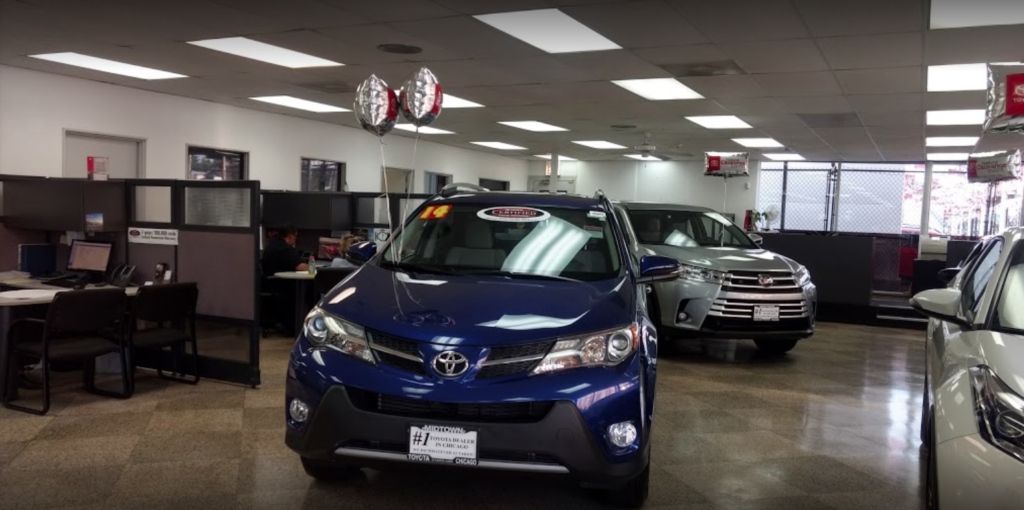 Midtown Toyota dealership inside view