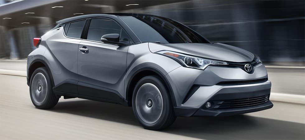 Image of a silver 2019 Toyota C-HR.