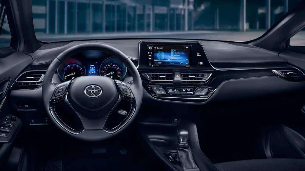 Image of the interior of a 2019 Toyota C-HR.
