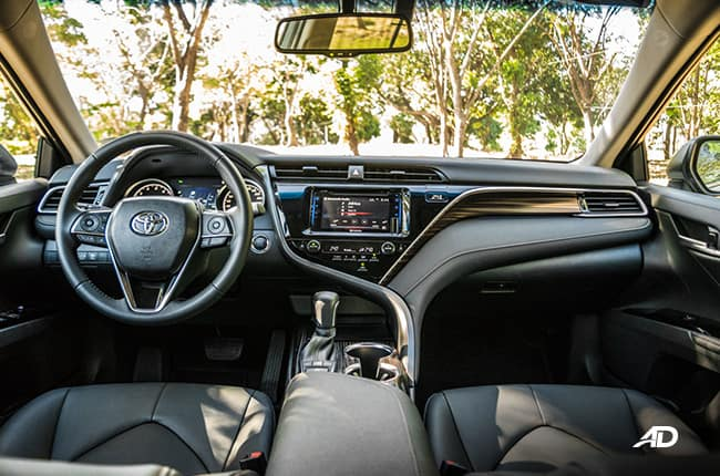 Image of the interior of a 2019 Toyota Camry.