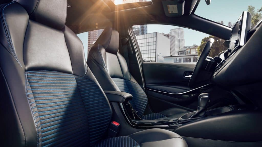 Image of the interior of the 2020 Toyota Corolla.