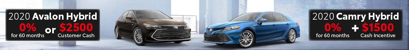 Midtown Toyota 0% on Avalon Hybrid and Camry Hybrid