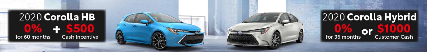 Midtown Toyota 0% on Corolla Hatchback and Corolla Hybrid
