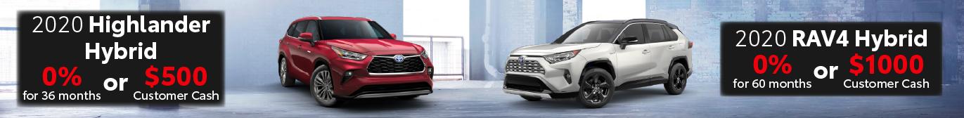 Midtown Toyota 0% on RAV4 Hybrid and Highlander Hybrid