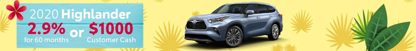 Midtown Toyota Highlander APR Offer