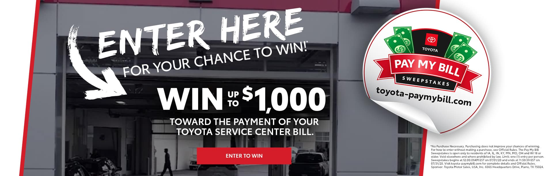 Midtown Toyota Pay My Bill Sweepstakes