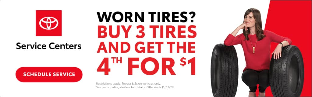 Midtown Toyota Buy 3 Tires and Get the 4th for $1