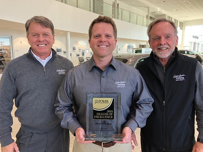 Milton Martin Toyota 2018 Dealer of Excellence