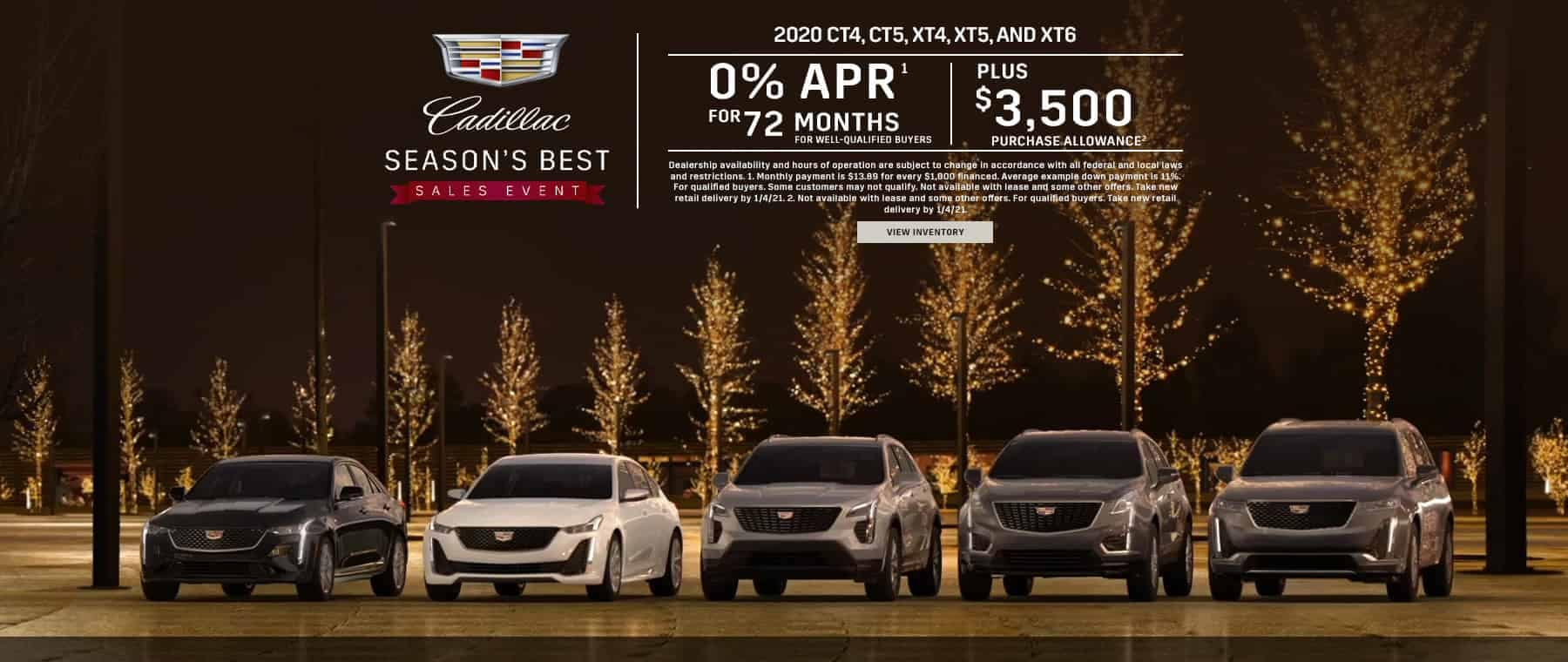 2020 CT4, CT5, XT4, XT5, and XT6 - 0% for 72 months