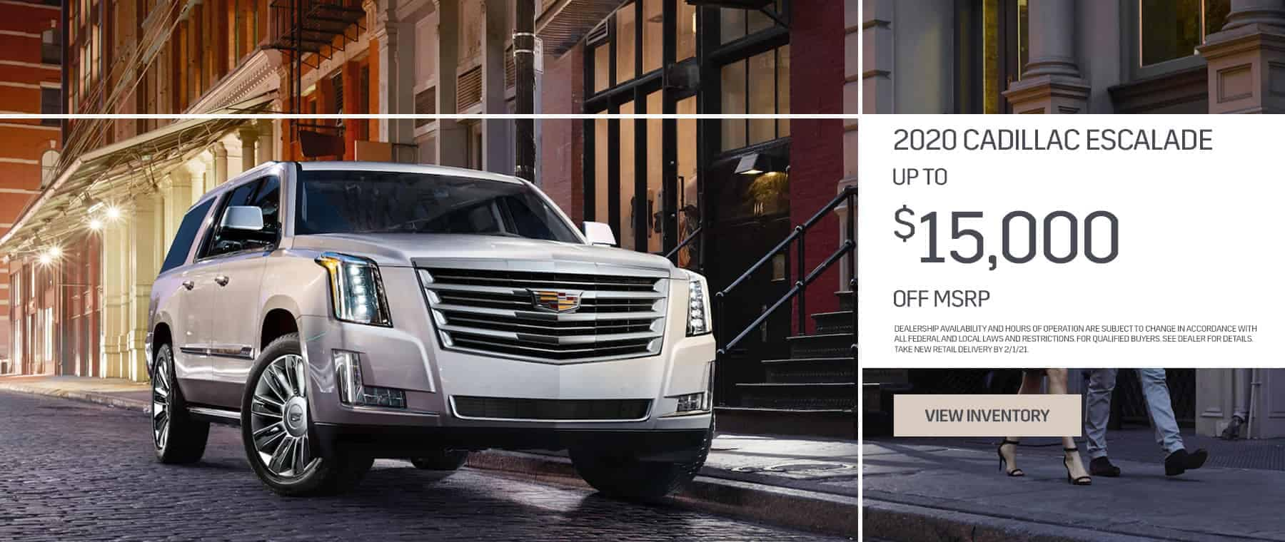 New Escalade up to $15,000 off msrp