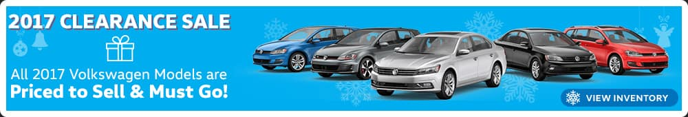 Save big on 2017 Volkswagen models during the 2017 Clearance Sale in Murfreesboro TN