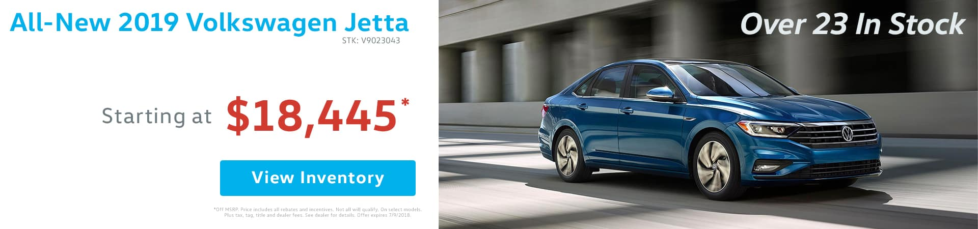 Drive home the all-new 2019 Volkswagen Jetta for as low as $18,445 in Murfreesboro TN