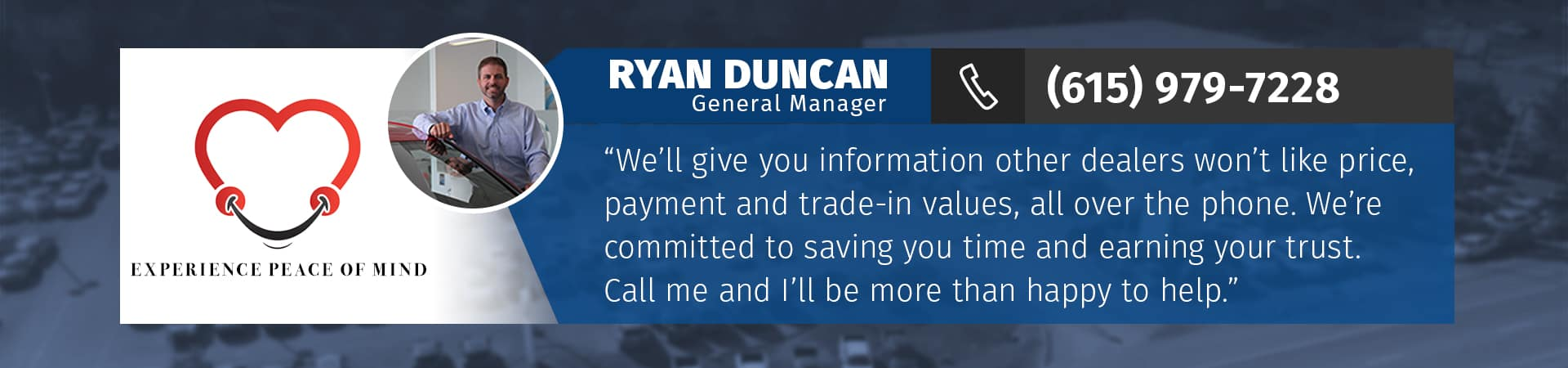 Call Ryan Duncan, GM at Murfreesboro Hyundai Volkswagen, at 615-979-7228 in Murfreesboro TN