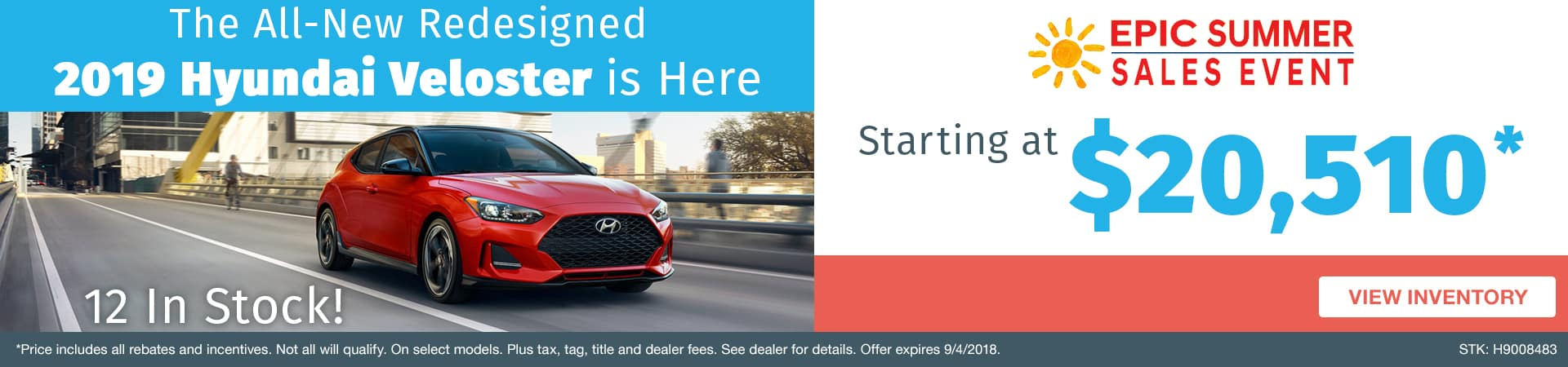 Drive home the all-new 2019 Hyundai Veloster starting at $20,510 in Murfreesboro TN