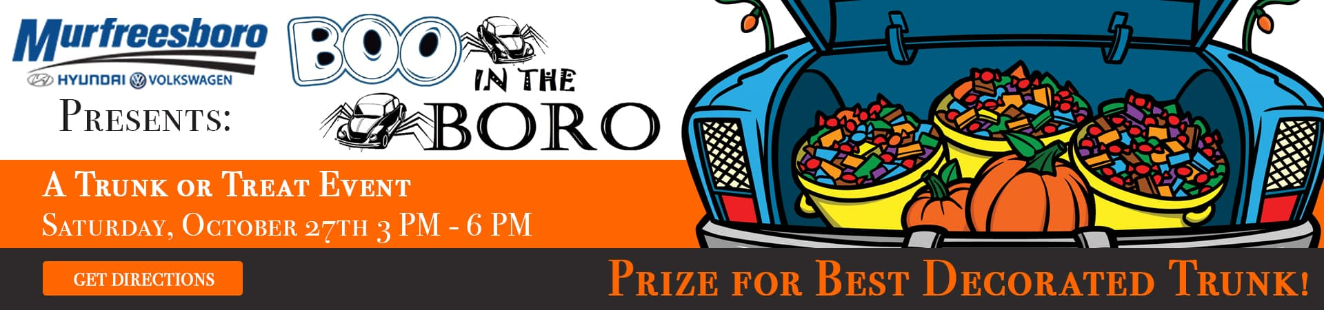 Join us for our Trunk or Treat Event on Saturday, October 27th in Murfreesboro TN