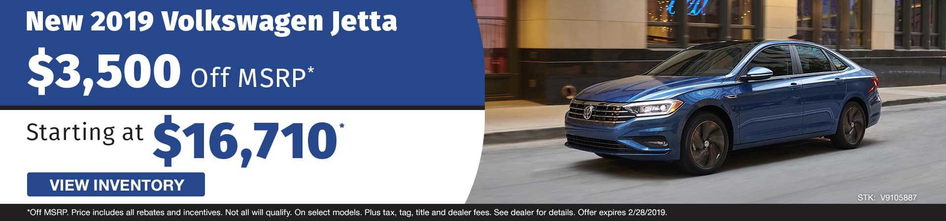 Save $3,500 off a new 2019 Volkswagen Jetta model in Murfreesboro TN