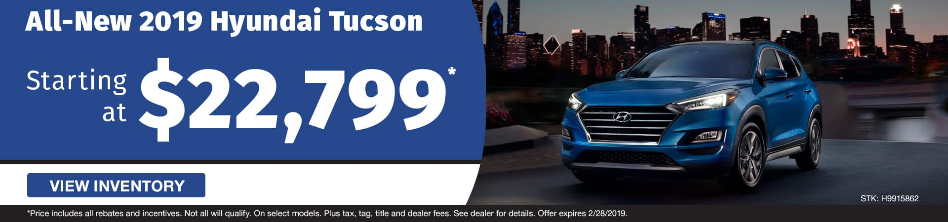 Drive home an all-new 2019 Hyundai Tucson starting at just $22,799 in Murfreesboro TN