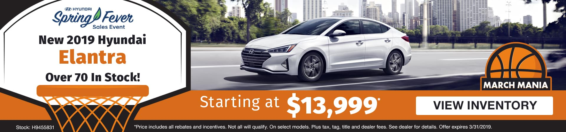 Drive a new 2019 Hyundai Elantra starting at just $13,999 in Murfreesboro TN