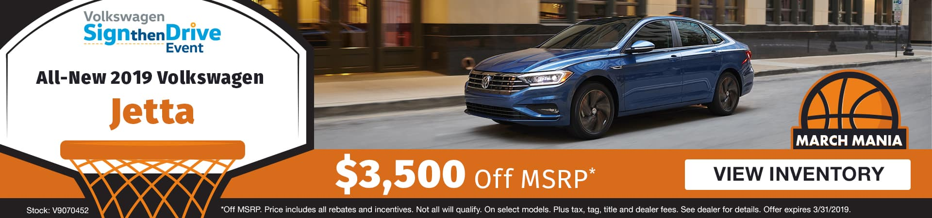 Save $3,500 off an all-new 2019 Volkswagen Jetta model in Murfreesboro TN