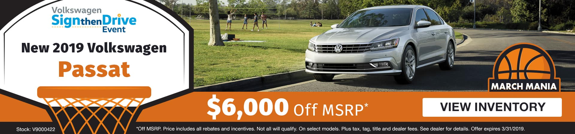 Save $6,000 off a new 2019 Volkswagen Passat model in Murfreesboro TN
