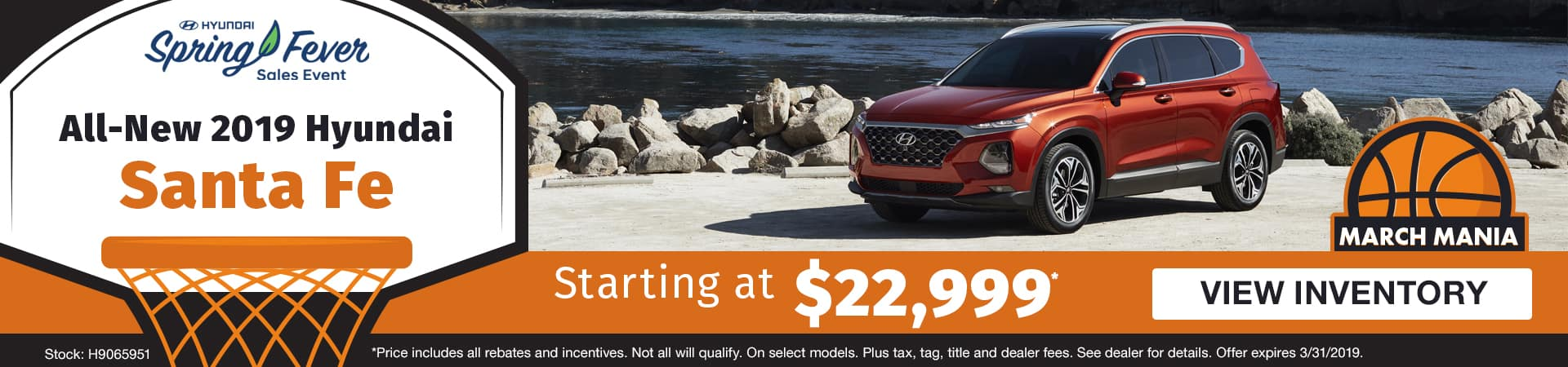 Drive an all-new 2019 Hyundai Santa Fe starting at just $22,999 in Murfreesboro TN