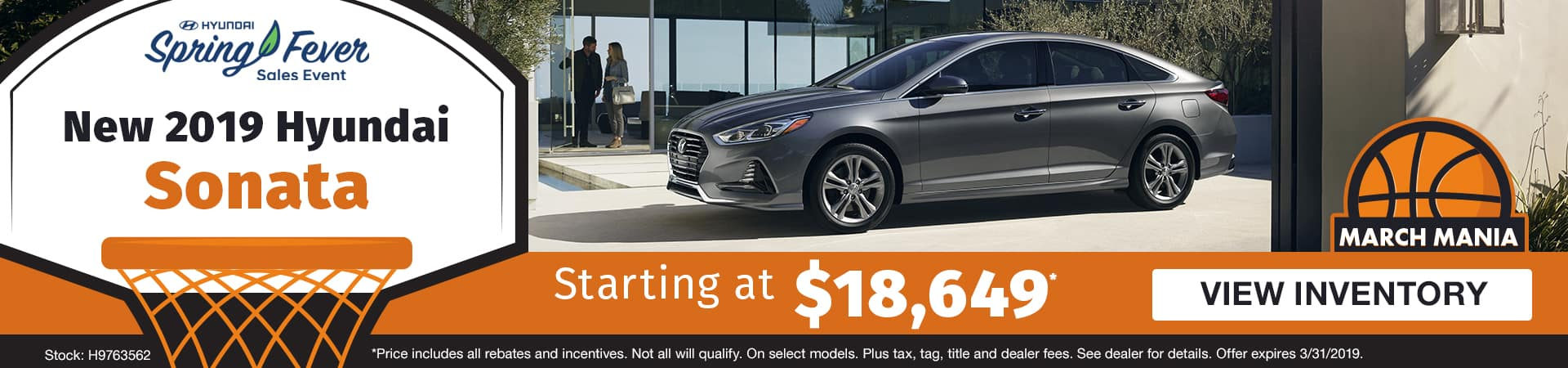 Drive a new 2019 Hyundai Sonata starting at just $18,649 in Murfreesboro TN