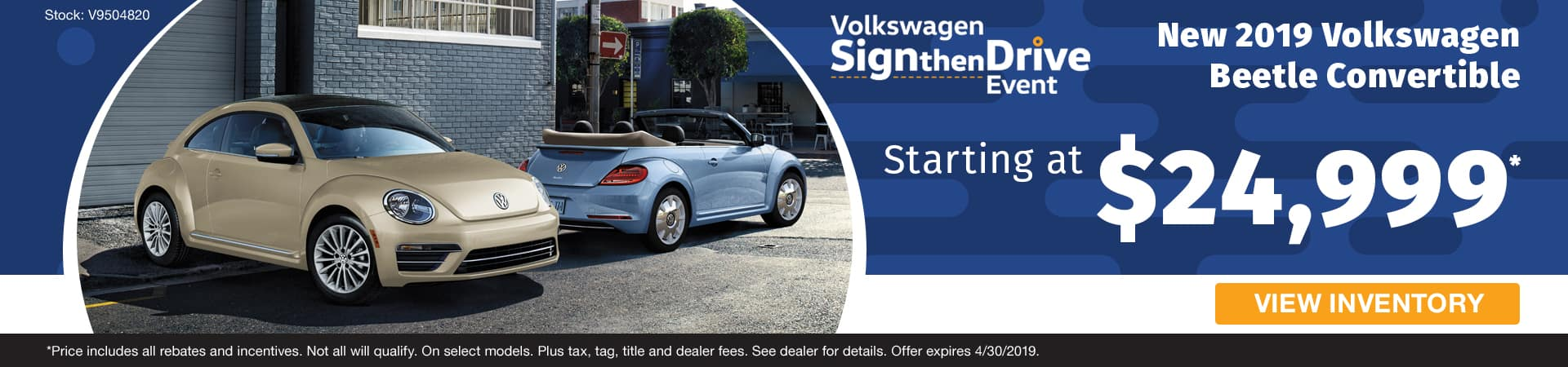 Drive home a new 2019 Volkswagen Beetle convertible starting at $24,999 in Murfreesboro TN