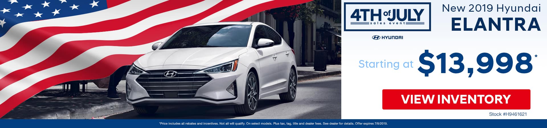 Get a new 2019 Hyundai Elantra for just $13,998 in Murfreesboro TN