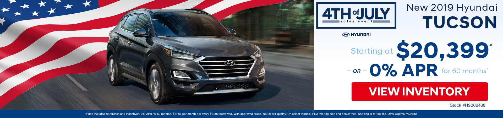 Get a new 2019 Hyundai Tucson for just $20,399 or 0% APR in Murfreesboro TN