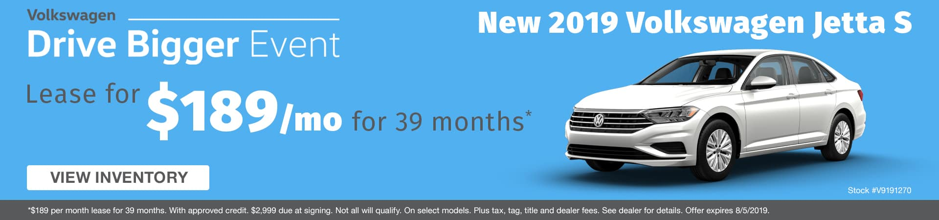 Lease a new 2019 Volkswagen Jetta for $189 a month in Murfreesboro TN