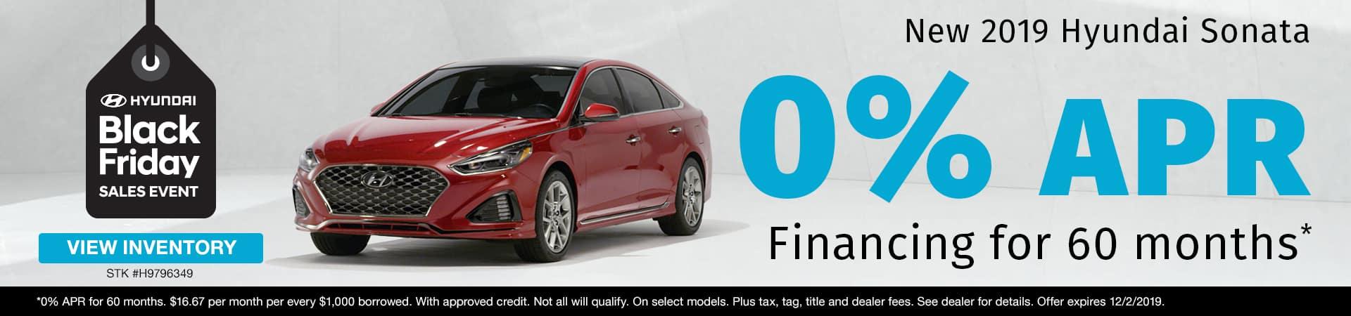 Get 0% APR Financing on a new 2019 Hyundai Sonata in Murfreesboro TN